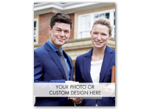 Vertical Full Custom Value Holiday Photo Card